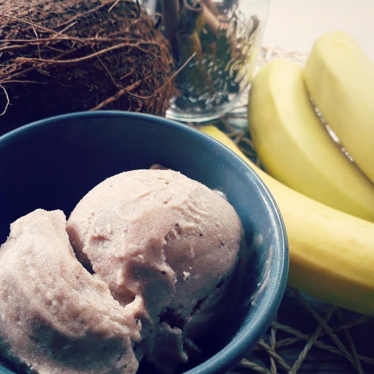Nice Cream banana, cocco, cannella